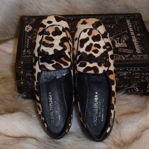DONALD J PLINER Animal Print Fur Slip On Flatforms